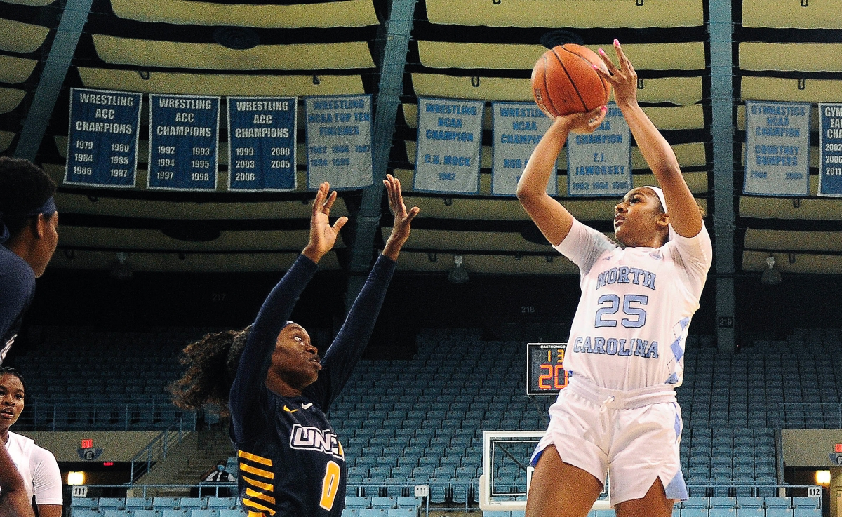 Suffocating defense ignites plenty of offense as UNC women roll past UNCG