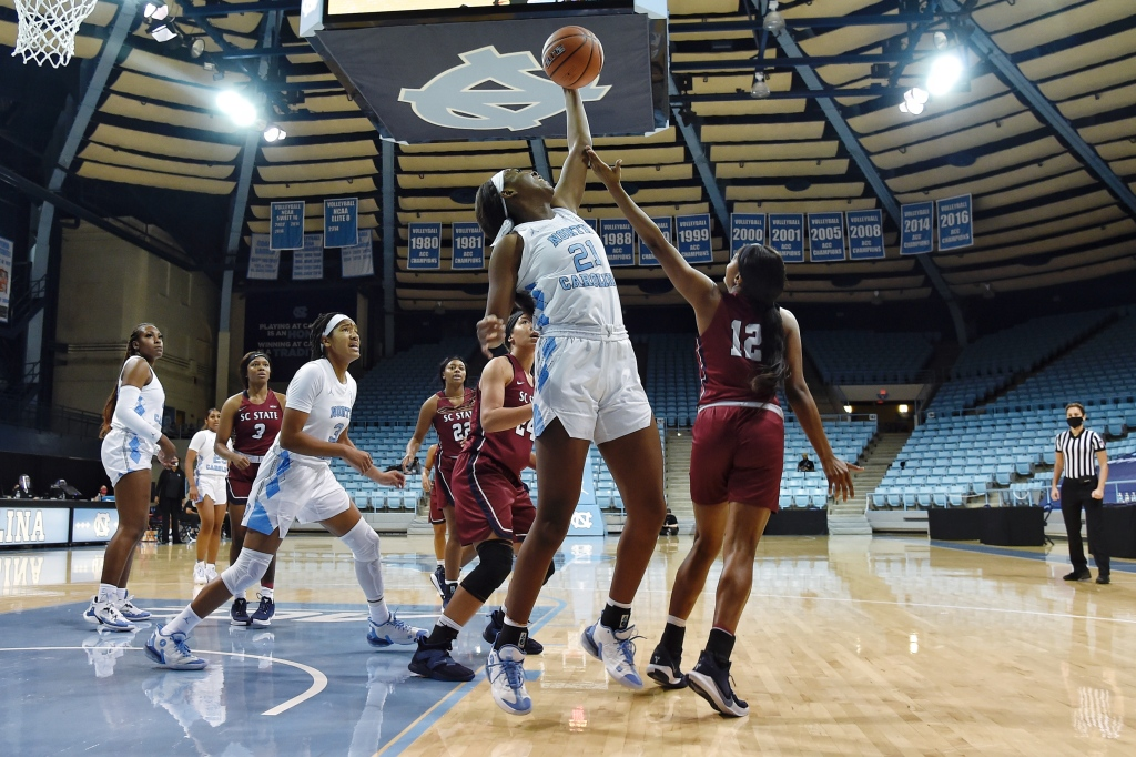 UNC Women's Basketball Improves To 4-0 With 98-28 Win Over S.C. State