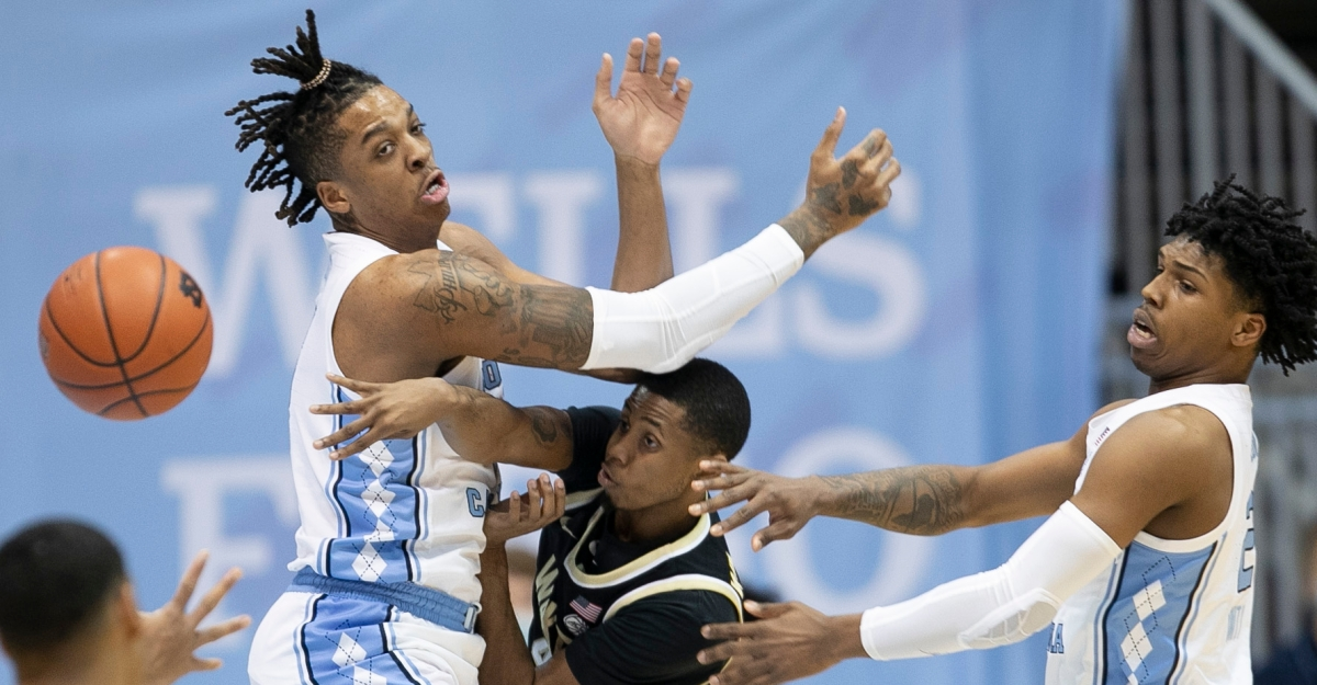 Halftime words lead to better second half actions as Caleb Love leads Tar Heels past Wake